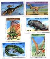 Benin 1996 Prehistoric Dinosaur Set Of 6 - #884-9 - Benin - Dahomey (1960-...)