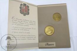 1987 Andorra Tenis Nova Disciplina Olimpica 2 Coins - Olympic Games Tennis Coins - Andorra
