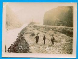 Espagne Catalogne Val D'Aran - Route Et La Garonne Au PONT DU ROI Tacot En 1911, Frontière Luchon - PHOTO - Voir Scans - Lieux