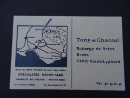 SAINT-LYPHARD - Auberge De Bréca - Tony Et Chantal - Café Restaurant Buvette Conduites De Chasse Promenade Brière - Saint-Lyphard