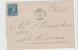 Gr-H001 /  GRIECHENLAND - Hermeskopf 1870 Ex Patras - 1861-86 Large Hermes Heads