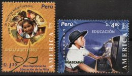 PERU, 2004, AMERICA UPAEP, EDUCATION, YV#1431-32, MNH - Peru