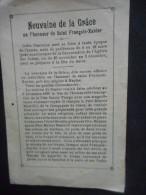 """IMAGEpieuse  Ancienne Double """"NEUVAINE En L'honneur De SAINT FRANCOIS XAVIER"""" - - Religion & Esotericism"""