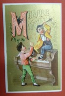 Chromo Rare Et Bel Alphabet - Lettre M Musique Vocale Et Instrumentale - Chromos