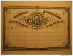 1/4 Cuartillo Real Fondo Amarillo Crema Tarjeta Entero Postal Stationery Card Entier Postaux Carte Postale Guatemala - Guatemala