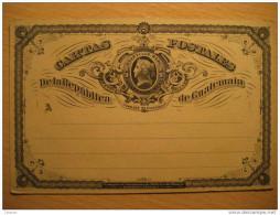 1/4 Cuartillo Real Fondo Blanco White Tarjeta Entero Postal Stationery Card Entier Postaux Carte Postale Guatemala - Guatemala