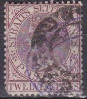 STRAITS SETTLEMENTS 1882 Queen Victoria 12 Ct Purple SG 102 - Groot-Brittannië (oude Kolonies En Protectoraten)