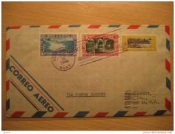1946 To New York NY USA Via Corpus Christi Houston Texas Cancel Air Mail Cover 3 Stamps Guatemala - Guatemala