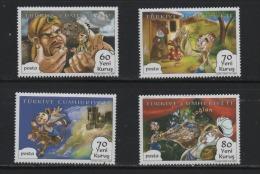 LOT 645  -  TURQUIE  N° 3321/3324**- DESSINS ANIMES KELOGAN - Cote 4.00  € - Fairy Tales, Popular Stories & Legends