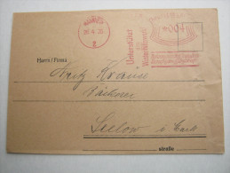 1935 , Mannheim   , Freistempel  Auf   Briefvorderseite - Deutschland