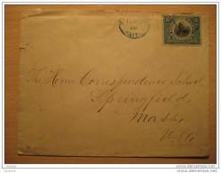 Port Au Prince 1910 To Massachusetts USA Stamp On Cover America Haiti - Haiti