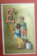 Chromo Rare Et Bel Alphabet - Lettre E Etudiant Raseur - Sin Clasificación