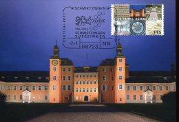 5958 Germany, Maximum  2016  1250 Year Schwetzingen,  The Castle - Cartes-Maximum (CM)