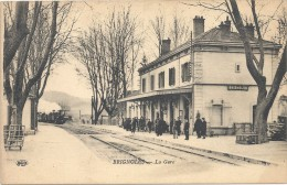 C P A  -   BRIGNOLES  La  Gare  Ave Le Train - Brignoles