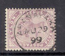 CEYLON, Postmark ´ARANAYAKA´ On Q Victoria Stamp - Ceylon (...-1947)