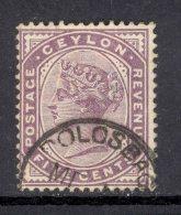 CEYLON, Postmark ´DOLOSBAGE´ On Q Victoria Stamp - Ceylon (...-1947)