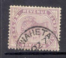 CEYLON, Postmark ´HEWAHETA´ On Q Victoria Stamp - Ceylon (...-1947)