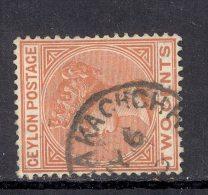 CEYLON, Postmark ´JAFFNA KACHCHERI´ On Q Victoria Stamp - Ceylon (...-1947)