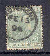CEYLON, Postmark ´KOTAHENA´ On Q Victoria Stamp - Ceylon (...-1947)