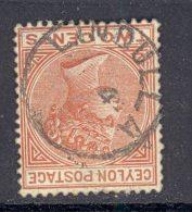 CEYLON, Postmark ´LINDULA´ On Q Victoria Stamp - Ceylon (...-1947)