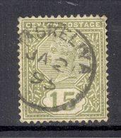CEYLON, Postmark ´MASKELIYA´ On Q Victoria Stamp - Ceylon (...-1947)