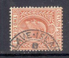 CEYLON, Postmark ´SLAVE ISLAND´ On Q Victoria Stamp - Ceylon (...-1947)