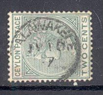 CEYLON, Postmark ´TALAWAKELE´ On Q Victoria Stamp - Ceylon (...-1947)