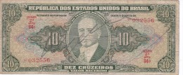 BILLETE DE BRASIL DE 10 CRUZEIROS DEL AÑO 1950 SERIE 84 (BANK NOTE) - Brasil