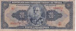 BILLETE DE BRASIL DE 20 CRUZEIROS DEL AÑO 1943 SERIE 46 (BANK NOTE) - Brasil