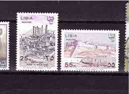 LIBYA 1967 Tolemaide  Yvert Cat N° 296/97  Cpl Set Of 2 Mint Never Hinged  Perfect Condition - Archaeology