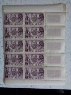 TUNISIE 1955 - BLOC DE 10 TIMBRES CERES N° 392 ** - COMMEMO DU CINQUANT DU ROTARY - Tunisia (1888-1955)