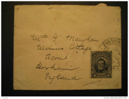Montevideo 1912 To Hexham England GB UK Cover Merchants Cancel Uruguay - Uruguay