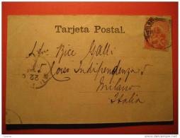 Montevideo 1901 To Milan Milano Italy Italia Stamp On Palacio Municipal Palace Post Card America Uruguay - Uruguay