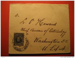 Montevideo 1912 To Washington USA Stamp On Cover America Uruguay - Uruguay