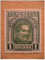 1 Bolivar Instruccion Bello Timbre Fiscal Poliza Tasa Tax Due Revenue Cinderella Official Venezuela - Venezuela