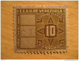 10 Centimos Timbre Fiscal Poliza Tasa Tax Due Revenue Cinderella Official Venezuela - Venezuela