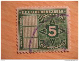 5 Centimos Timbre Fiscal Poliza Tasa Tax Due Revenue Cinderella Official Venezuela - Venezuela
