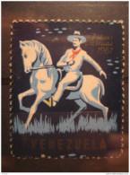 1961 Pro Tuberculosos Tuberculosis Tuberculose Christmas Horse Poster Stamp Label Vignette Viñeta Cinderella Venezuela - Venezuela