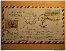 Caracas 1972 Chacao Registered To Buenos Aires Argentina Visita Presidente Event Cancel Cover Snake Boa Venezuela - Venezuela