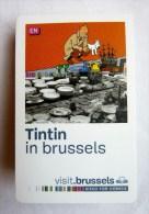 CARTE-GUIDE TINTIN IN BRUSSELS En Anglais - Oggetti Pubblicitari