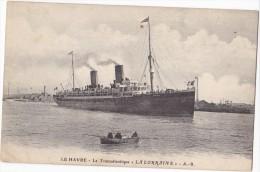 """LE HAVRE. - Le Transatlantique """" LA LORRAINE"""" - Dampfer"""