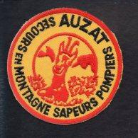 """Pompiers - Ecusson Ou Badge De Manche Tissu  """" Sapeurs Pompiers : Secours En Montagne Auzat   """" - Firemen"""