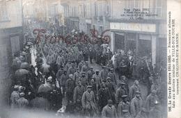(51) Chalons Sur Marne - Prisonniers Allemands - Soldats Militaires Militaria Guerre 1914 18 - 2 SCANS - Châlons-sur-Marne