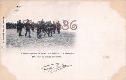 (51) Camp De Chalons Sur Marne - L'Ecole De Saint St Cyr - Vélo Cycliste Soldats Militaires Militaria - 2 SCANS - Camp De Châlons - Mourmelon