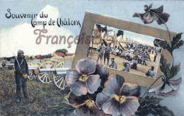 (51) Camp De Chalons Sur Marne - Souvenir - Soldats Militaires Militaria Les Tentes Canons - 2 SCANS - Camp De Châlons - Mourmelon