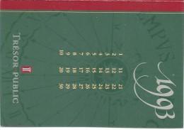 Calendrier De Poche/Trésor Public/1993        CAL260 - Calendars