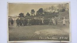 CARTE PHOTO Algerie CONSTANTINE Groupe De Touristes Bourgeois CPA Animee Postcard (Cliché Unique!)