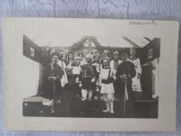 CARTE PHOTO .  SOUVENIR DE LA KERMESSE DE COUTAINVILLE 14 ET 15 AOUT 1910 - Autres Communes
