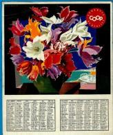 CALENDRIER COOP 1965 -    ** TULIPES EN POTS ** Par Jean Jacquelin (1905-1989) Est Un Affichiste Français - Calendriers