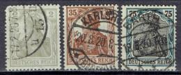 Deutsches Reich - Mi-Nr 102/104 Gestempelt / Used (B1169) - Gebraucht